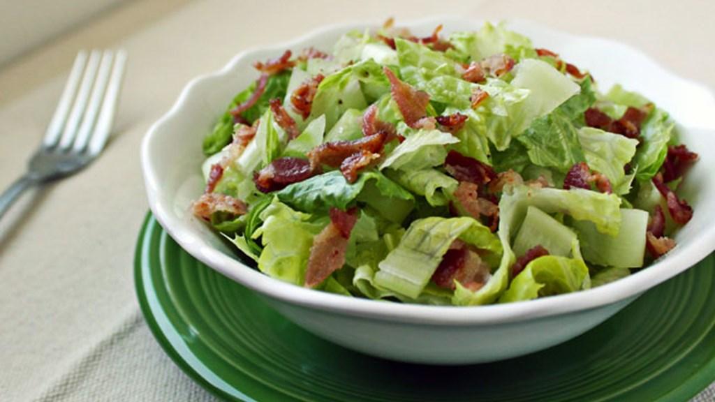 Salat med bacon og aioli