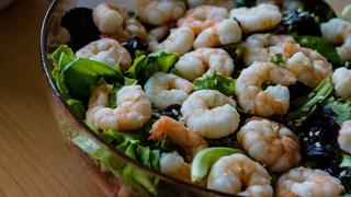 Salat med Reker og Avokado