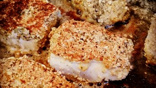 Nøttepanert torsk m/ brokkoli