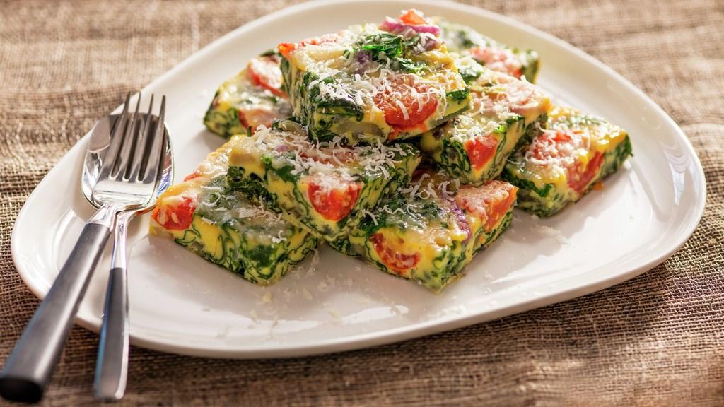 Frittata med spinat