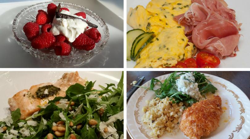 mat collage 22.8..png (1) ketofaste, ned i vekt med ketose, ketogen diett, lavkarbo middag, hva er lavkarbo